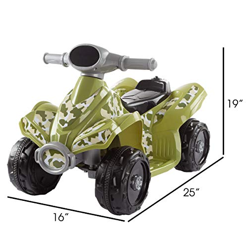 41CI%2B4FP5EL - Lil' RiderRide-On Toy ATV -Battery Operated Electric 4-Wheeler for Toddlers with Included Battery Charger and Push Button Start (Green Camo)
