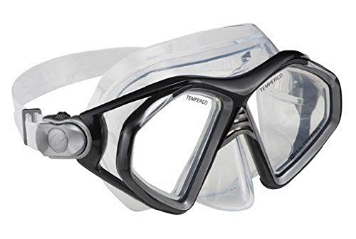 U.S. Divers Unisex Admiral Pro Lx Silicone Swim Mask, Black, OS
