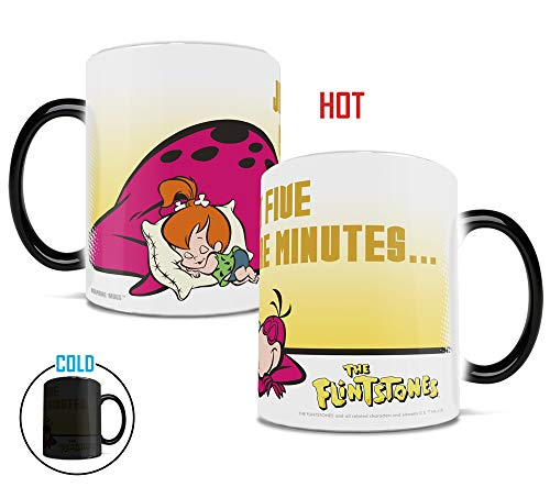 Pebbles From The Flintstones (Flintstones - Pebbles and Dino - Morphing Mugs Heat Sensitive Mug - Color Changing Heat Reveal Coffee Tea Mug - by Trend Setters)