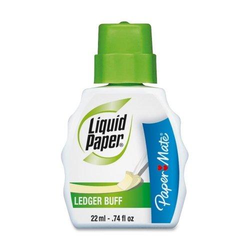 paper-mate-liquid-paper-correction-fluid-074-fl-oz-ledger-buff-1-each-each