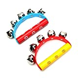 2Pcs Babies Kids Held Tambourine Percussion Rattles Musical Instrument Toys by NEW BORN NEW HOPE