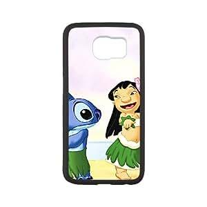 Samsung Galaxy S6 Cell Phone Case White Disneys Lilo and Stitch 002 KI5923321