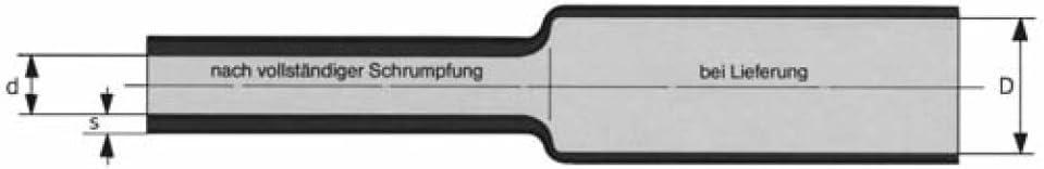 Schrumpfschlauch Isolierschlauch High-Quality 2:1 L/änge 12 m Transparent in praktischer Spender Box D=6,4mm//d=3,2mm