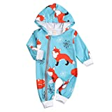 Newborn Infant Baby Boy Girls Clothes Dinosaur Romper Onesie Jumpsuit Outfit Set (6-12 Months, Fox)