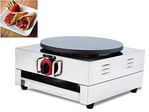 (New Crepes Maker Commercial Pancake Fruit Machine Single Head LP Gas)