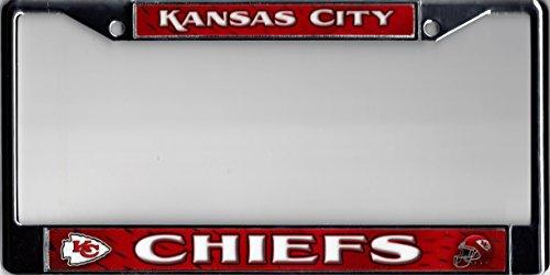 Rico Industries Kansas City Chiefs Full Color Chrome Frame