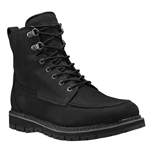 Fusion Moc Toe (Timberland Men's Britton Hill Waterproof Moc Toe Boot Black Nubuck)
