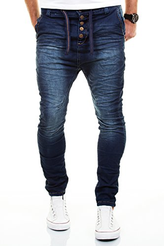 Urban Surface by AUTHENTIC Style Jogg Jeans Destroyed Look Drop Crotch Felpa W29W38L32L34
