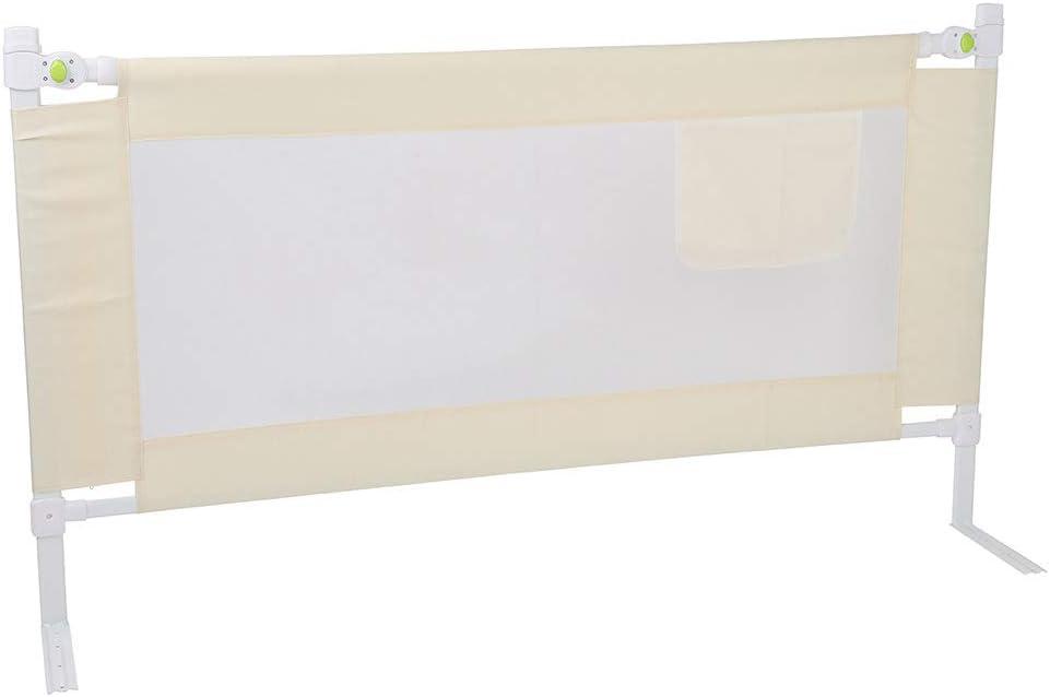 Zoternen Barrera de Cama Plegable para beb/és y ni/ños 150//180//200 cm de Largo 1,5 m Color Beige