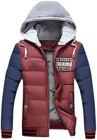 Yomiafy Bomber Jacket Mens Winter Warm Thicken Double-Sided Wear Jacket Zipper Loose Outwear Coat