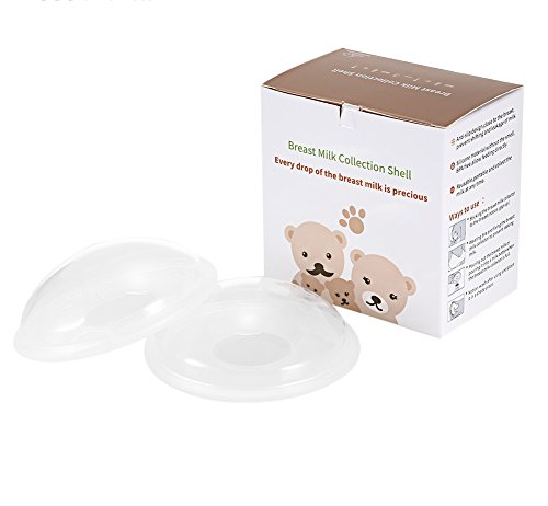 Kidsidol 2Pcs Breast Milk Collector Shell 10ml Reusable PP Nursing Cups Milk Saver Collect Breastmilk for Breastfeeding Moms Washable Anti-Spill Anti-Slip Collectors Nursing Pads