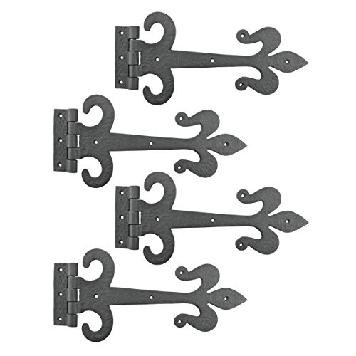 (Black Iron Door Strap Hinge 12 Inch Set Of 4)