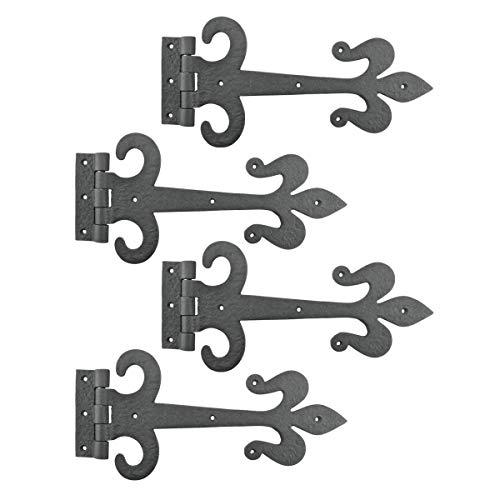 Black Iron Door Strap Hinge 12 Inch Set Of 4