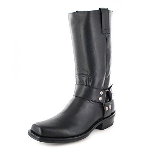 Fashion Boots BU2002 Schwarz Damen & Herren Bikerstiefel