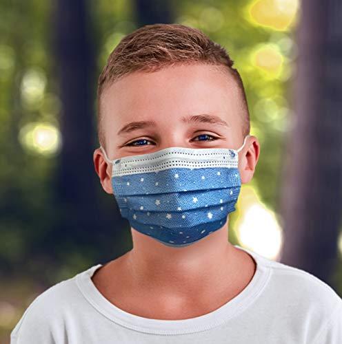 EZ Breezy Kids Face Masks - Perfect Size for Children - Jool Baby (Blue, 25)