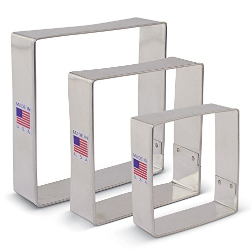 Square Cookie Cutter Set - 3 piece - 2.5