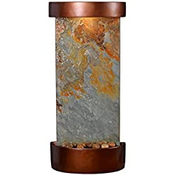 Kenroy Home 51027SLCOP Riverbed Wall/Table Fountain with Light, 26 Inch Height, Natural Green Slate and Copper Finish