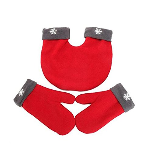 Alljoin Christmas Lovers Couples Winter Mittens Gloves Valentine's Gift (Red) by Alljoin