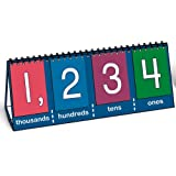 number flip chart - Nasco TB25011T Place Value to Thousands Tabletop Student Demo Flip Chart, 7-3/4 x 14-3/4