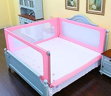 fd33d66c9d344d Barrières de lit Lit Rails pour Enfants 4 Panneau Rose Bébé Filles ...