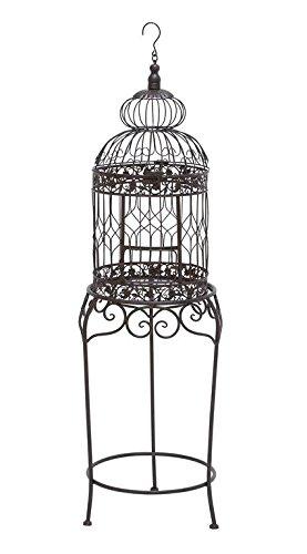 Benzara 55122 Victorian Style Bird Cage with Wrought Iron by Benzara