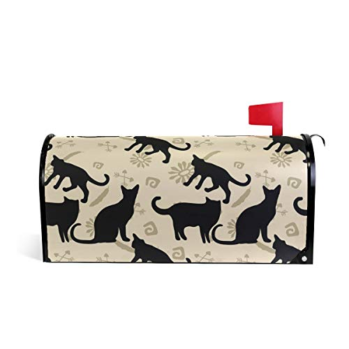 Tengyiyi Cat Cute Collage Magnetic Mailbox Cover, Mail Box Post Decorative -