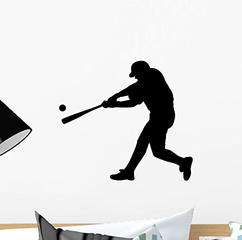 (Batter up Baseball Wall Decal by Wallmonkeys Peel and Stick Graphic (12 in W x 11 in H))