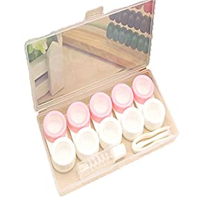 Plastic Contact Lens Box Holder Portable Lovely Candy Color Eyewear Bag Container Contact Lenses1Piece