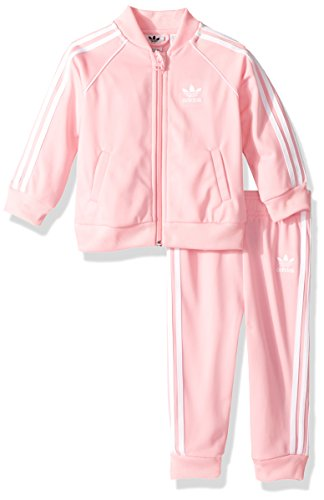 adidas Originals Baby Infant Superstar Tracksuit, Light Pink/White, 3M (Tracksuit Logo)