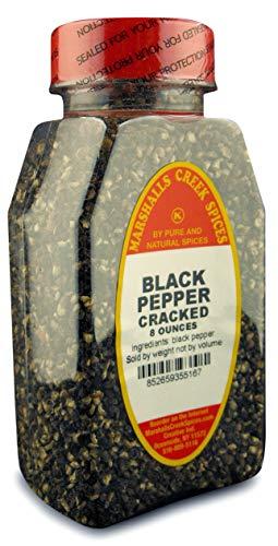 BLACK PEPPER CRACKED FRESHLY PACKED IN LARGE JARS, spices, herbs, seasoning, 8 ounce