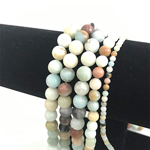 daisy3010 Necklace for Women - 2 3 4 6 8 10 12mm Natural Round Frost Multicolor Amazonite Stone Beads Strand 15