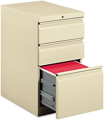 HON 33723RL Efficiencies Mobile Pedestal File with One File Two Box Drawers, 22-7 8d, Putty