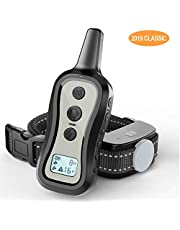 PATPET Dog Training Collar- Dog Shock Collar with Remote, w/3 Training Modes, Beep, Vibration and Shock, Up to 1000 ft Remote Range, Rainproof for Small Medium Large Dogs.