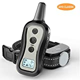 Dog Training Collar- Dog Shock Collar with Remote, w/3 Training Modes, Beep, Vibration and Shock, Up to 1000 ft Remote Range, Rainproof for Small Medium Large Dogs
