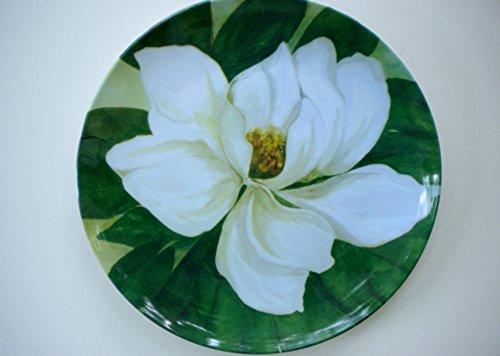Green Flower Plates Set (8