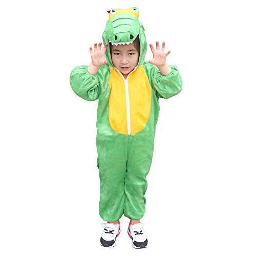 Children Party Costume Cartoon t-rex Costume Funny Clothes Performance Kids Dinosaur Cosplay Costume (M(Height 35.4''-41.3''/90cm-105cm), Dinosaur) by YOWESHOP (Image #3)