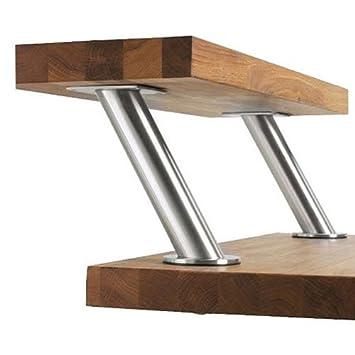 Set Of 2 Ikea Capita Stainless Steel Legs