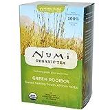 Numi Organic Green Roobios Herbal Teasan - 18 bags per pack - 6 packs per case.