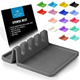 Silicone Utensil Rest with Drip Pad for Multiple