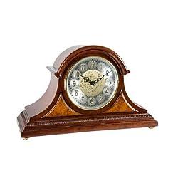 Qwirly Store: Amelia Quartz Mantel Clock by Hermle 21130N9Q | Cherry