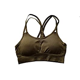 ChicChase UK Womens Sports Bra Top Gym Activewear Yoga Training Fitness Energy Seamless