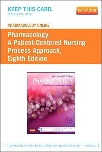 Books : Pharmacology Online for Pharmacology (User Guide and Access Code): A Patient-Centered Nursing Process Approach
