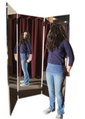 Glassless mirror, free-standing, triple panel, 16'' W x 48'' H by Fabrication (Image #1)
