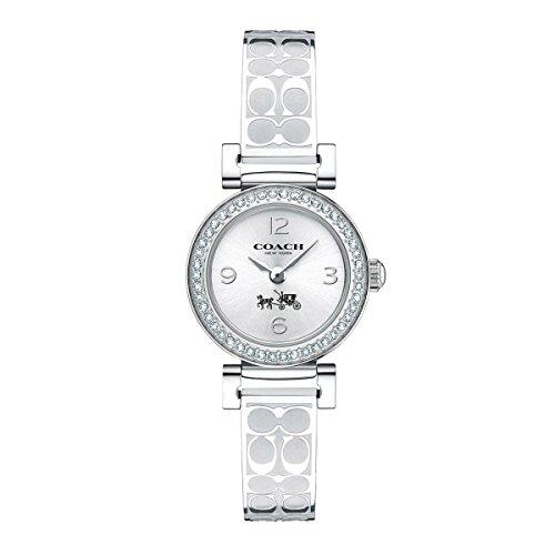 Coach Women's 14502201 Madison Signature Silver Stainless Bangle Glitz Watch