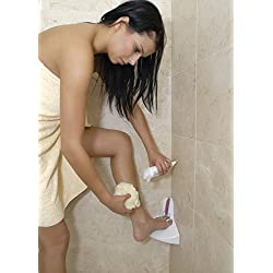 ElevEase Shower Step - White Corner Bathroom Step - Ideal for Shaving, Tanning & More - Suitable for Pregnant Women & Back Pain Sufferers - Reduce Body Strain & Bending Over - Easily Mountable