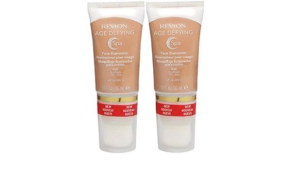 a39f07accb7 Amazon.com : Revlon Age Defying Spa Face Illuminator GOLD LIGHT 030 (PACK  OF 2 TUBES) : Mascara : Beauty