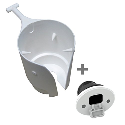 Tallon Removable Boat Drink / Cup Holder (White), With Tallon Classic Socket Mount (White)
