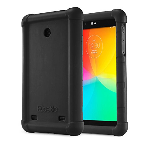 LG G Pad 7.0 Case - Poetic LG G Pad 7.0 Case [Turtle Skin Series] - [Corner/Bumper Protection] [Grip] [Sound-Amplification] Protective Silicone Case for LG G Pad 7.0 Black (3 Year Manufacturer Warranty From Poetic)