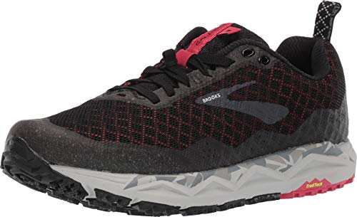 Brooks Women's Caldera 3 Black/Grey/Teaberry 8.5 B - Brooks Trail Shoes