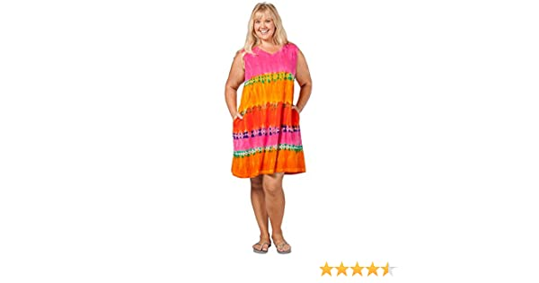 5fdd061c23ac La Cera Casual Dress - Plus Size Cotton Knit Sleeveless Beach Dress in  Sundae at Amazon Women s Clothing store